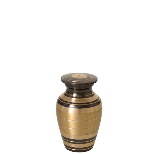 Black and Brass Keepsake Urn