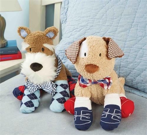 Puppy Bow Tie Sock Buddies
