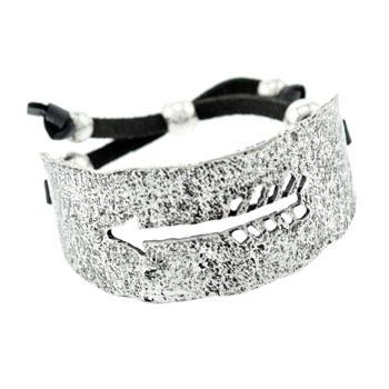 arrow cuff bracelet leather