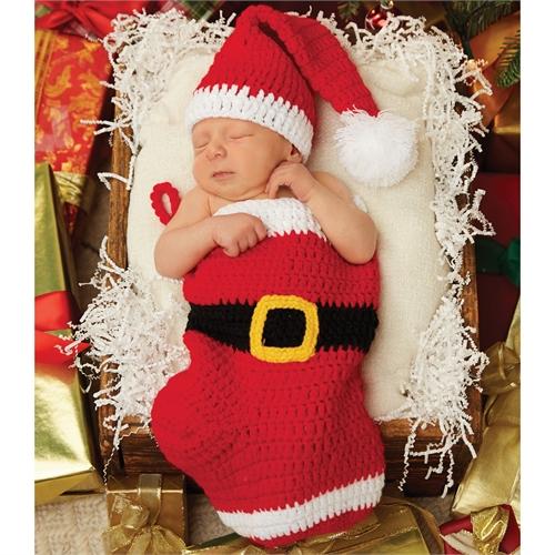 santa stocking and hat set
