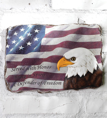 Eagle and Flag Plaque