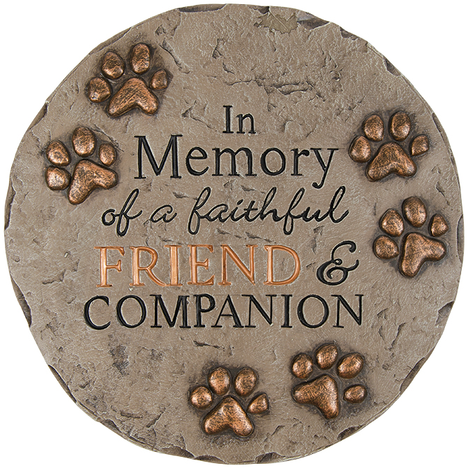 Friend and Companion Garden Stone