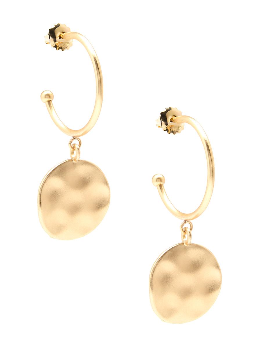 gold flat earring