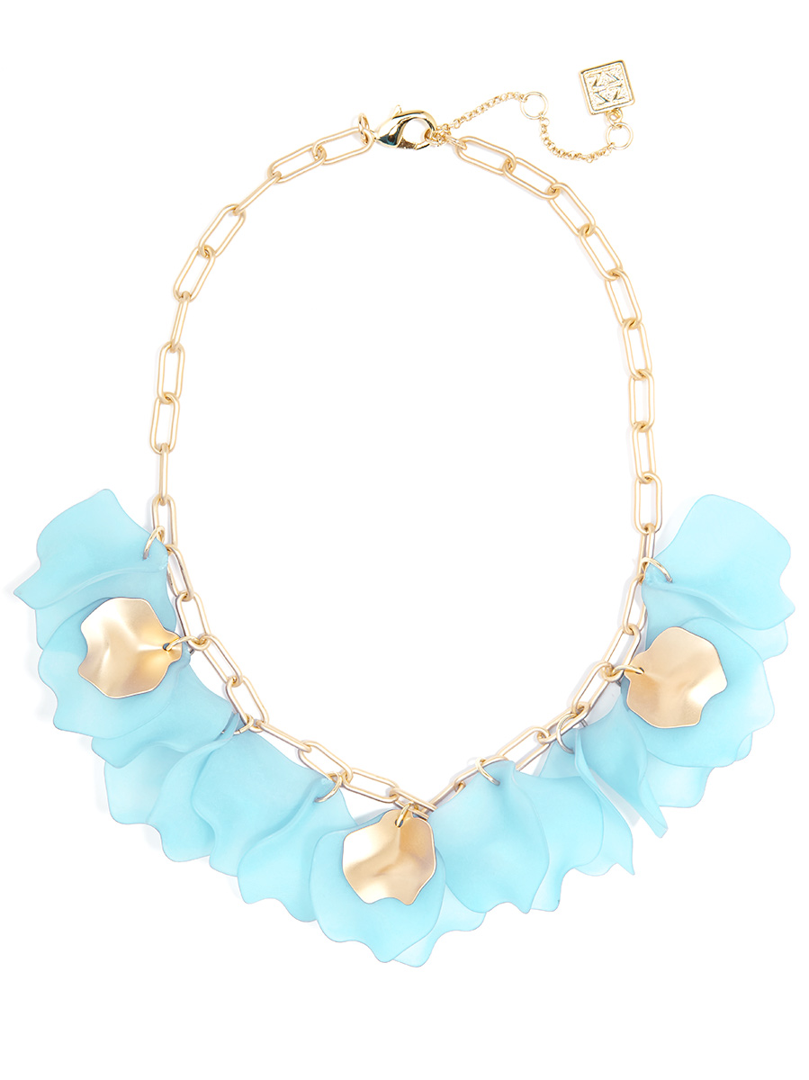 light blue necklace