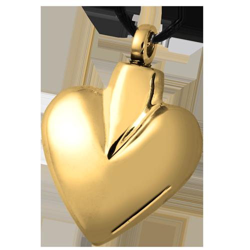 gold heart t