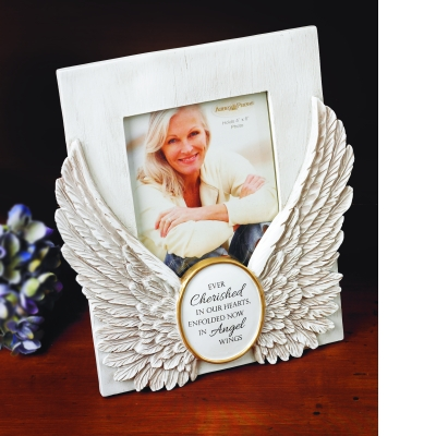 angel wings memorial frame