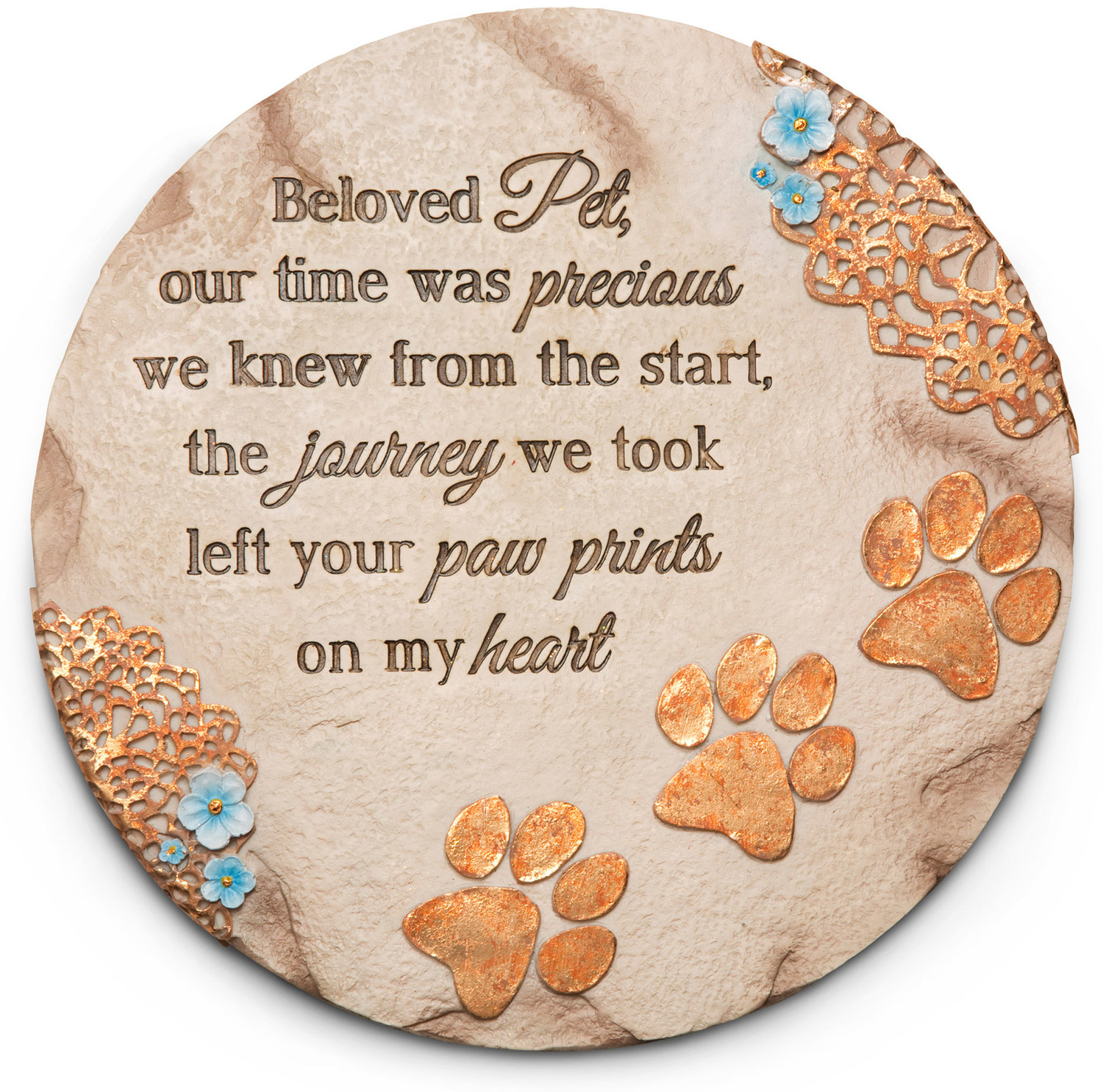 beloved pet garden stone