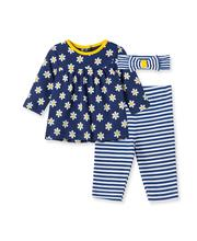 daisy stripe tunic set