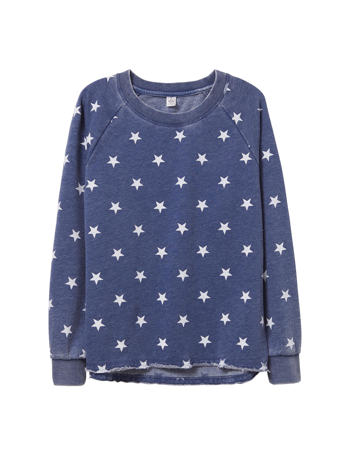 Alternative,Women,Lazy Day Pullover,Navy Stars,08626FJ