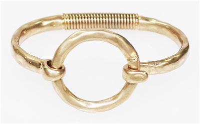 gold hinged circle