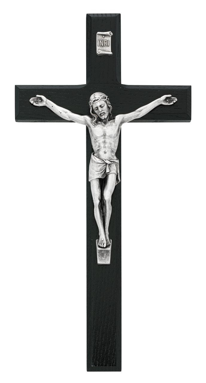 black silver crucifix