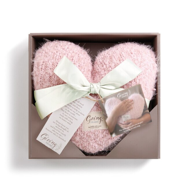 pink giving heart box