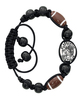 black football bracelet
