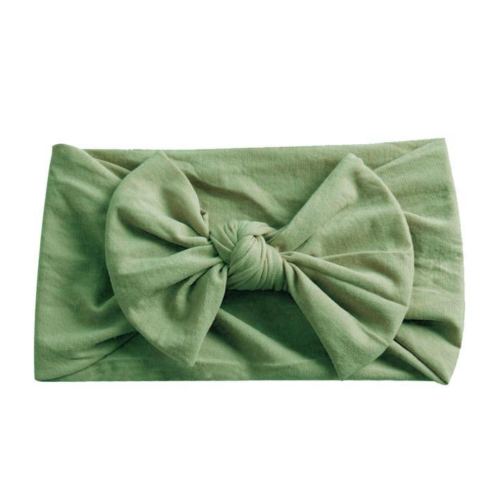 olive wide knot headband