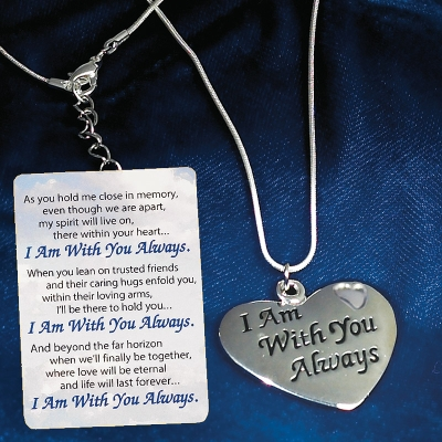 silver always with you pendant