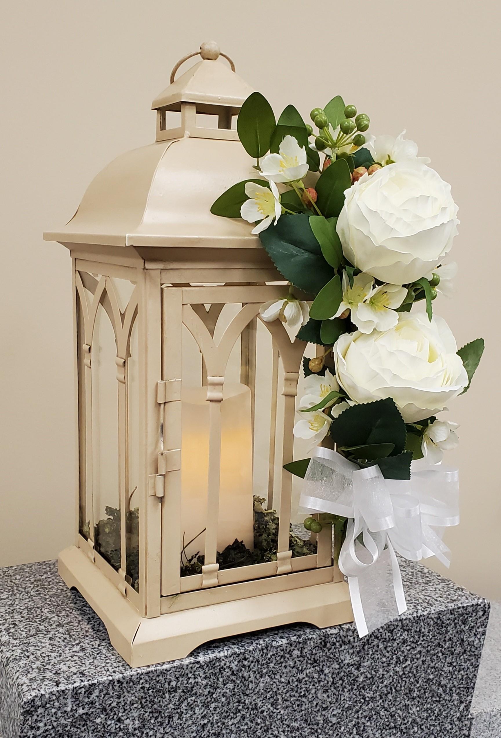 ivory emb lantern
