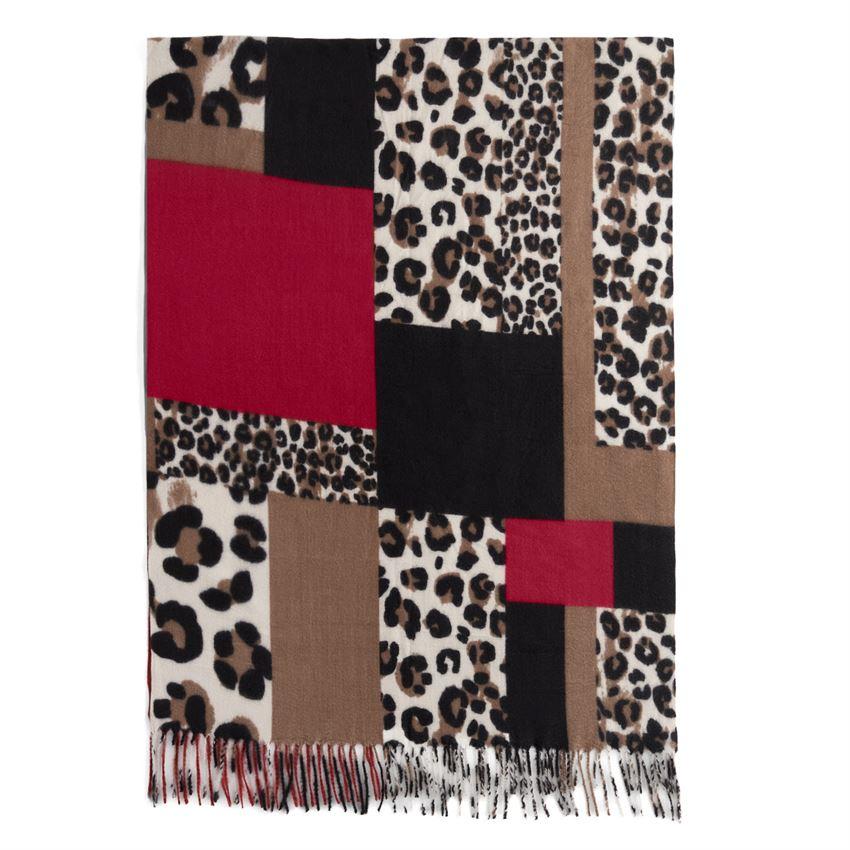 duma colorblock scarf red