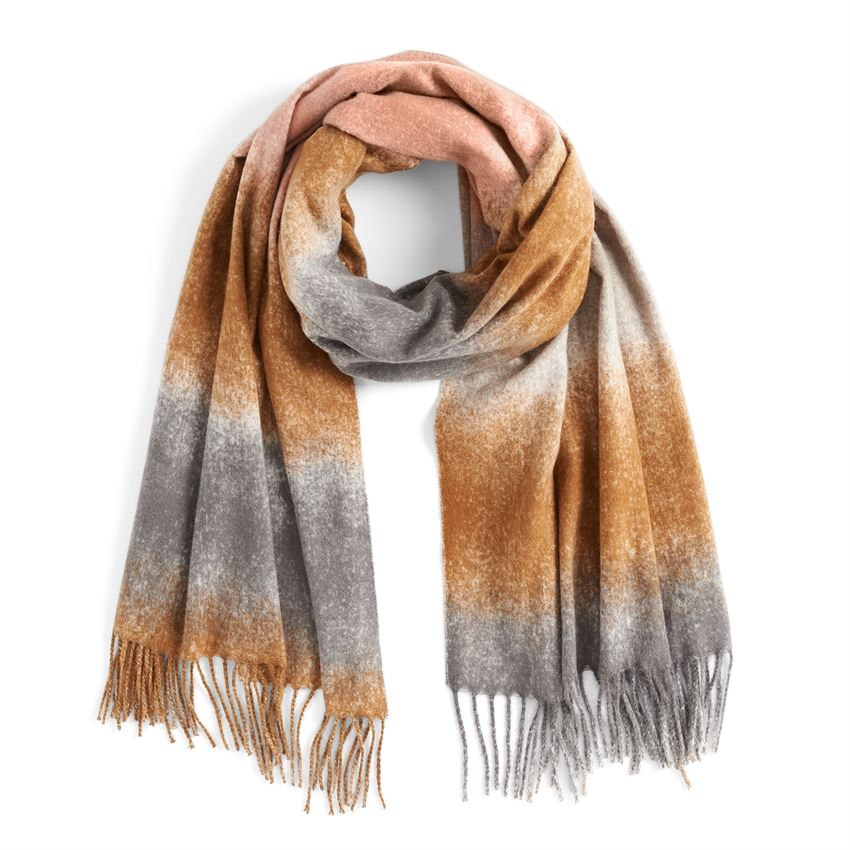 marcelle ombre scarf gray and cognac